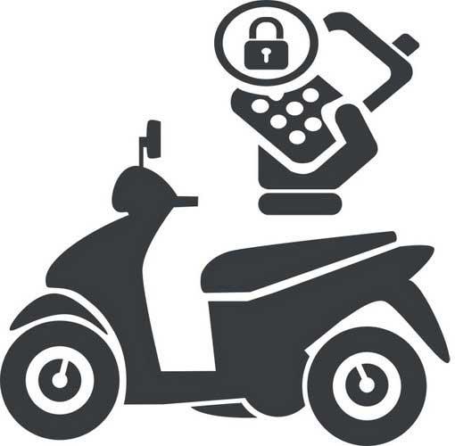 Chống trộm xe máy bằng điện thoại di động