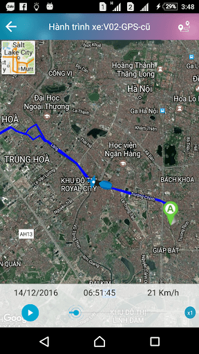 Theo dõi xe máy Viettel với Google maps