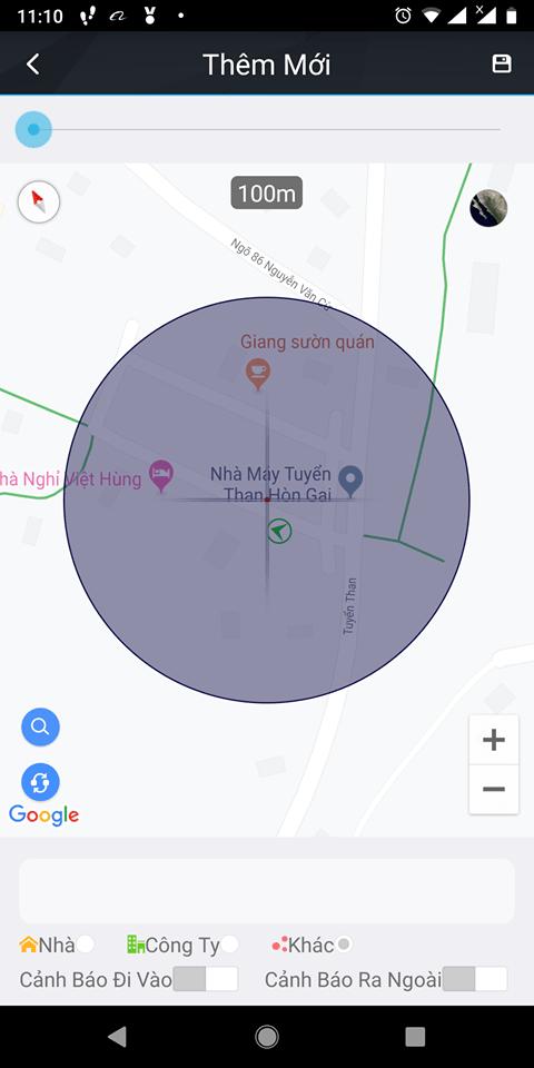 Khoanh vùng vị trí trên điện thoại