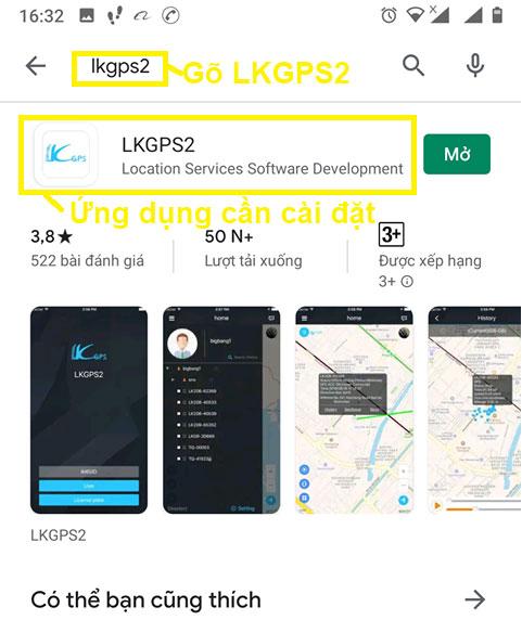 Cài ứng dụng LKGPS2